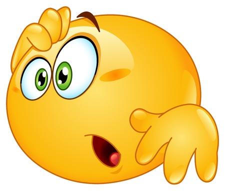 carita feliz caricatura: Emoticon Asombrado