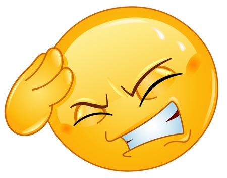 smiley: Emoticon met hoofdpijn
