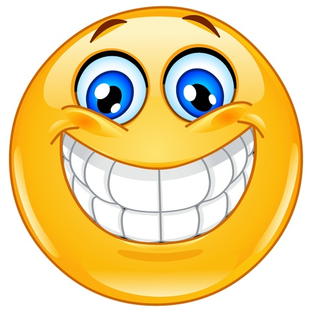 Emoticon avec grand sourire grand Vecteurs