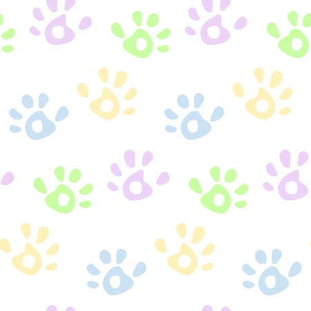 background baby: Kids colorful hand prints seamless pattern