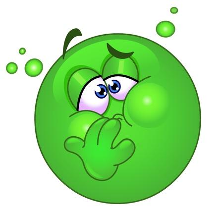 sintoma: Emoticon com n�useas Ilustra��o