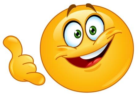 smiley content: Emoticon faire un appel me geste