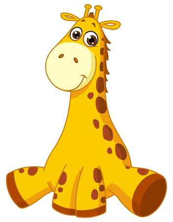 giraffe cartoon: Baby giraffe Illustration