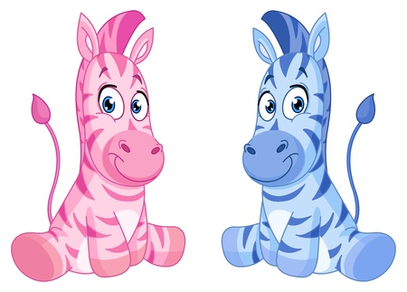 Baby zebras Stock Vector - 16215404