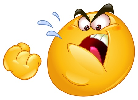 bully: Emoticon amenaza con un pu�o