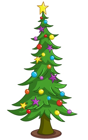 Cartoon Christmas tree Stock Vector - 16537118