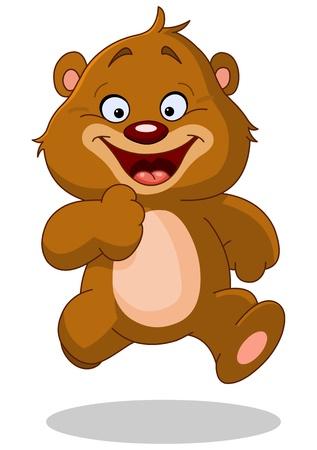 Happy teddy bear running Stock Vector - 17351102