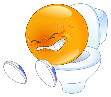 toilet bowl: pooping emoticon
