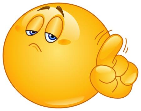 Emoticon dire non avec son doigt Vecteurs