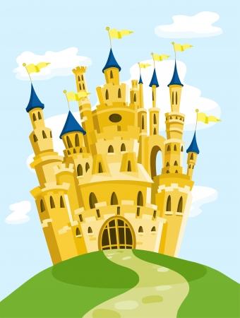 Magiczne zamek Ilustracje wektorowe