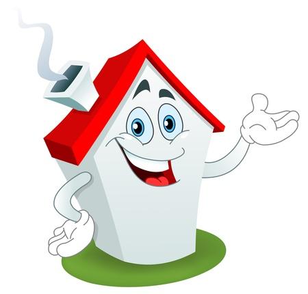 clip clip art: Cartoon house