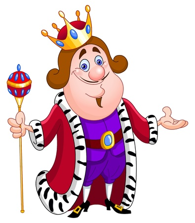 estafette stokje: Vriendelijke koning