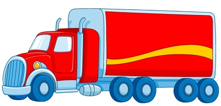 white truck: Cartoon truck Illustration
