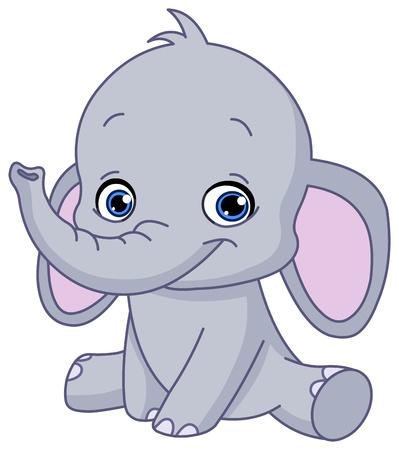 elephant cartoon: Baby Elephant