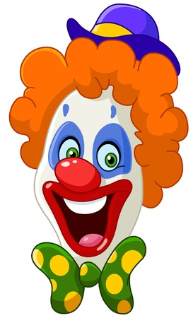 nez de clown: Visage de clown Illustration