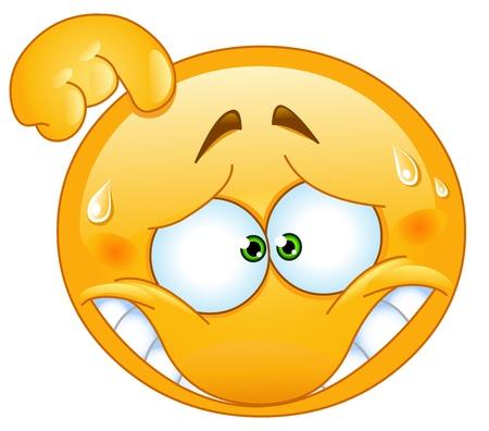 Emoticon Imbarazzato Vettoriali