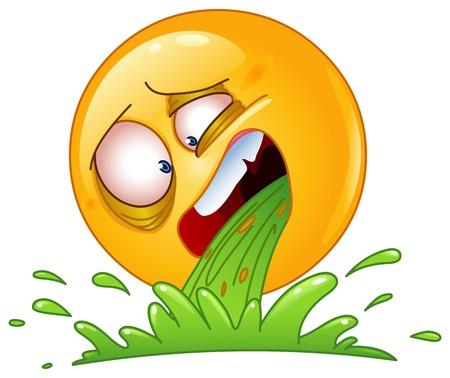 nauseous: Emoticon vomiting