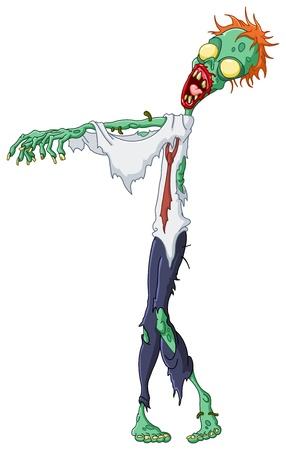 zombie cartoon: Cartoon zombie