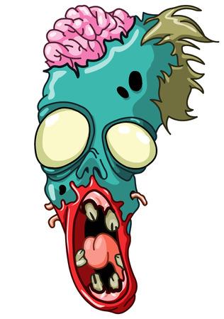 Zombie head Vector
