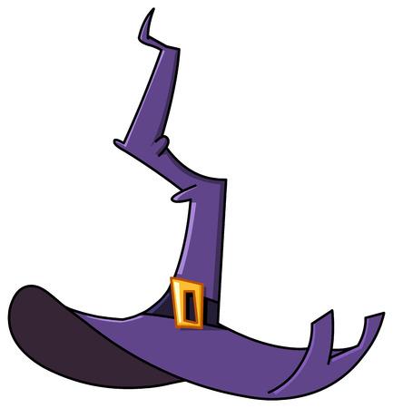 Cartoon heksenhoed Vector Illustratie