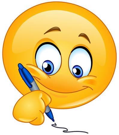 ceruzák: Emoticon írás