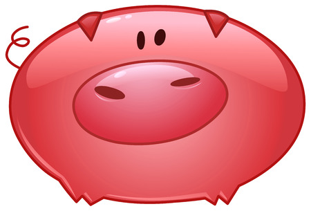 Cartoon pig icon Vector