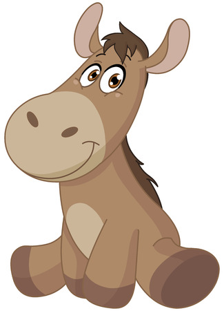 donkey: Baby donkey  Stock Illustratie