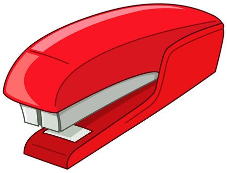 Vecteur rouge agrafeuse
