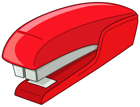 Vector red stapler Vector