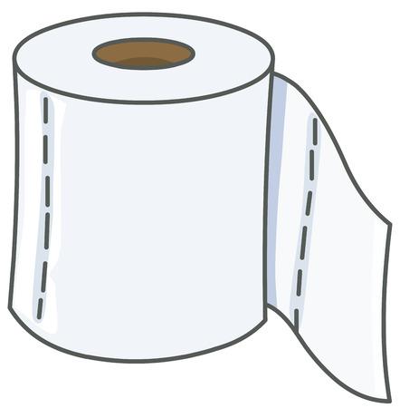 Vector toilet paper