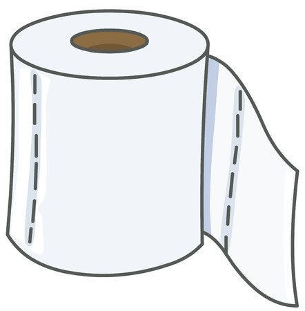 toiletries: Vector toilet paper