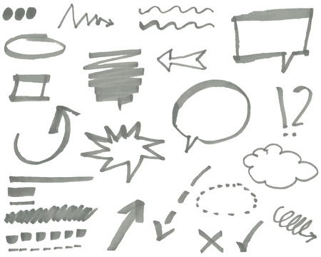 curve arrow: marker elements