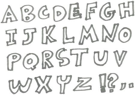 hand drawn marker alphabet Stock Vector - 28501763