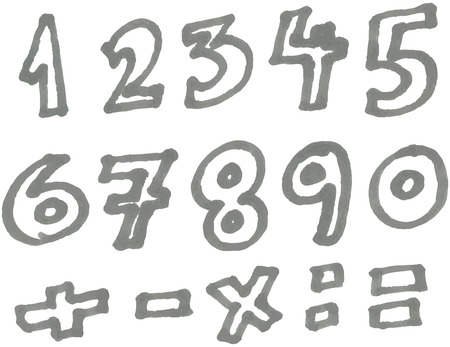 felt tip pen: marker numbers