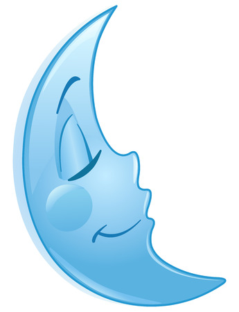 Sleeping moon Vector