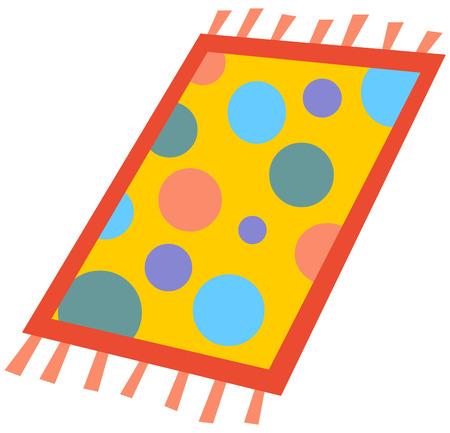 Cartoon rug Vector