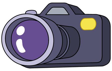 digital slr: Cartoon camera