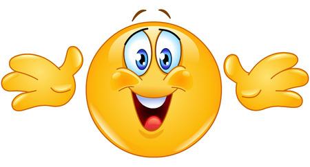 emozioni: Emoticon offrendo abbracci Vettoriali