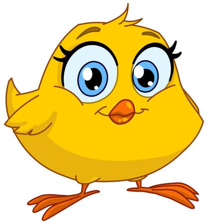 cartoon mensen: Leuke glimlachende chick