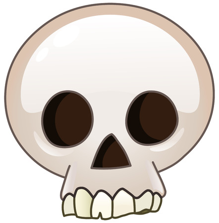poison symbol: Skull cartoon icon