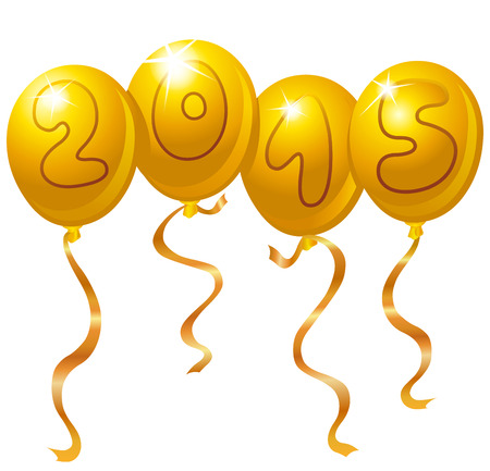 2015 New Year balloons Vector