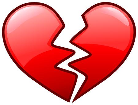 Broken heart icon Illustration