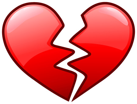 Broken heart icon Vectores