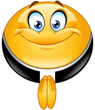 Sacerdote emoticono Foto de archivo - 37149535