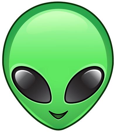 Alien face icon Stock Illustratie