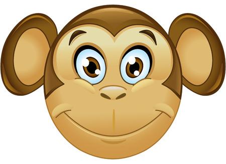 monos: Sonreír mono cara emoticon