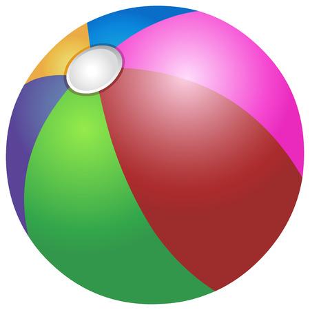 Vector colorful beach ball Vetores