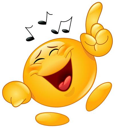 Émoticône danse à la musique
