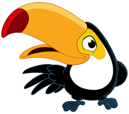 funny animals: Smiling toucan Illustration