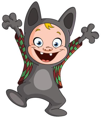 wilkołak: Dziecko w kostium wilkołaka z okazji Halloween